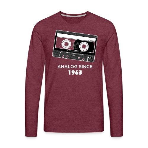 Analog since 1963 - Men's Premium Longsleeve Shirt