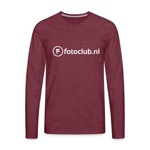 Logo Wit Fotoclublnl - Mannen Premium shirt met lange mouwen