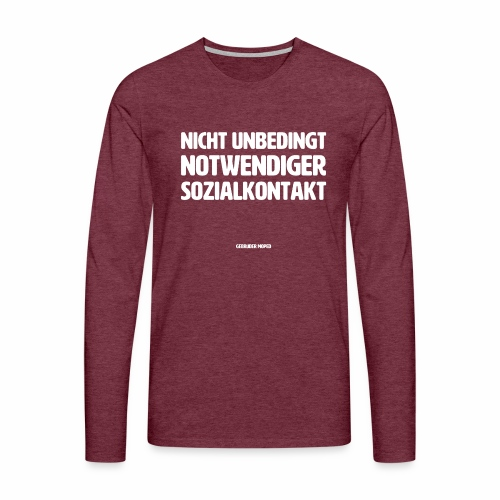 Sozialkontakt - Männer Premium Langarmshirt