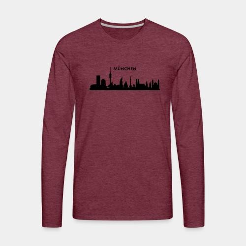München Skyline - Männer Premium Langarmshirt