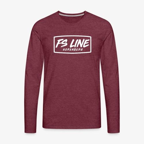 LINE BADGE weiss - Männer Premium Langarmshirt