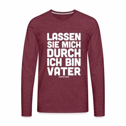 Bin Vater - Männer Premium Langarmshirt