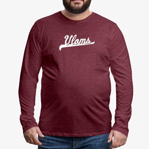 Logo wit Vloms - Mannen Premium shirt met lange mouwen