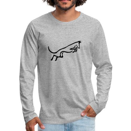 Podenco springt - Männer Premium Langarmshirt