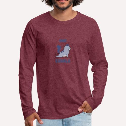 Yoga Exhale position - Men's Premium Longsleeve Shirt