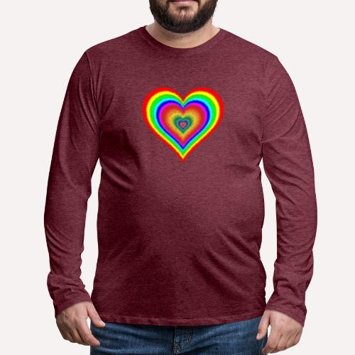 Heart In Hearts Print Design on T-shirt Apparel - Men's Premium Longsleeve Shirt