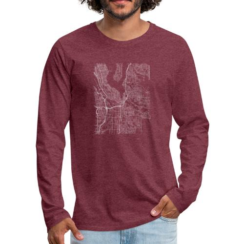 Minimal Renton city map and streets - Men's Premium Longsleeve Shirt