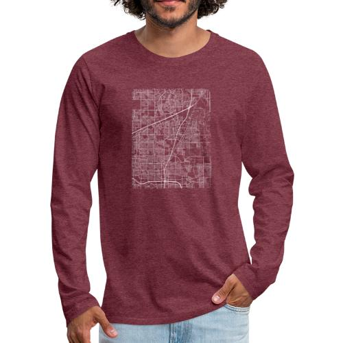 Minimal Allen city map and streets - Men's Premium Longsleeve Shirt