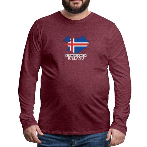 Straight Outta Iceland country map - Men's Premium Longsleeve Shirt