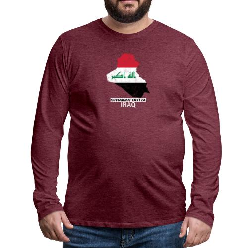 Straight Outta Iraq country map & flag - Men's Premium Longsleeve Shirt