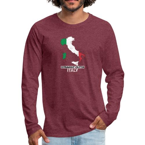 Straight Outta Italy (Italia) country map flag - Men's Premium Longsleeve Shirt
