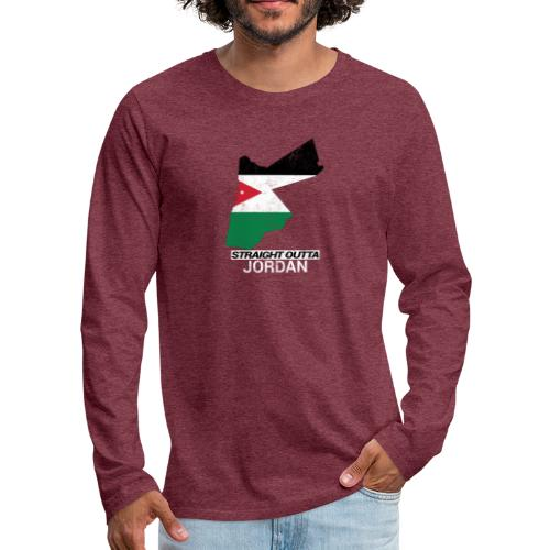 Straight Outta Jordan country map - Men's Premium Longsleeve Shirt