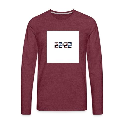 22:22 buttons - Mannen Premium shirt met lange mouwen