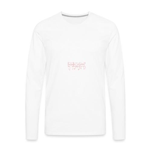 Black | MxR - Männer Premium Langarmshirt