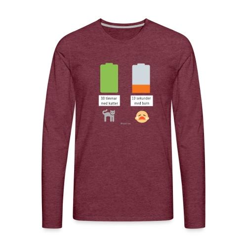 Livsbatteriet KATT - Långärmad premium-T-shirt herr