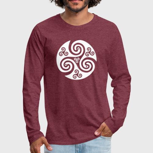 Triskel celtique - T-shirt manches longues Premium Homme