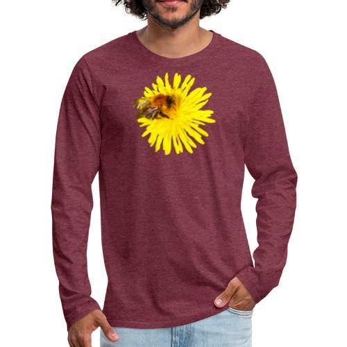 Voikukka ja kimalainen - Miesten premium pitkähihainen t-paita