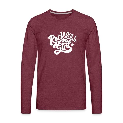 Rock n Roll Girl - Miesten premium pitkähihainen t-paita
