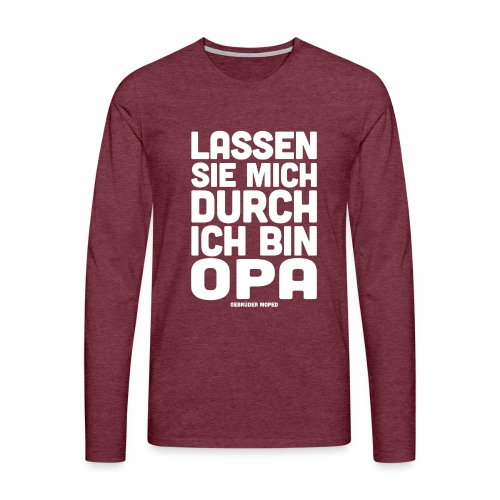 Opa - Männer Premium Langarmshirt
