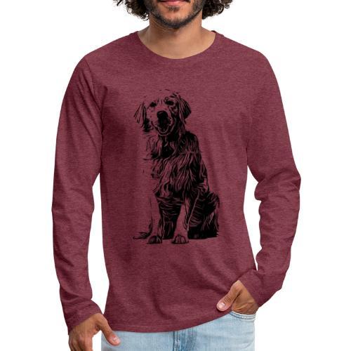 Golden Retriever - Hunde Geschenkidee - Männer Premium Langarmshirt
