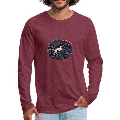 Windhund im Traumwald - Männer Premium Langarmshirt