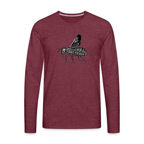 Skelett Biene - Mannen Premium shirt met lange mouwen