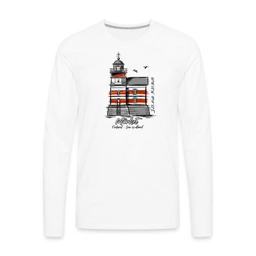 Finnish Lighthouse MÄRKET Sea Textiles, and Gifts - Miesten premium pitkähihainen t-paita