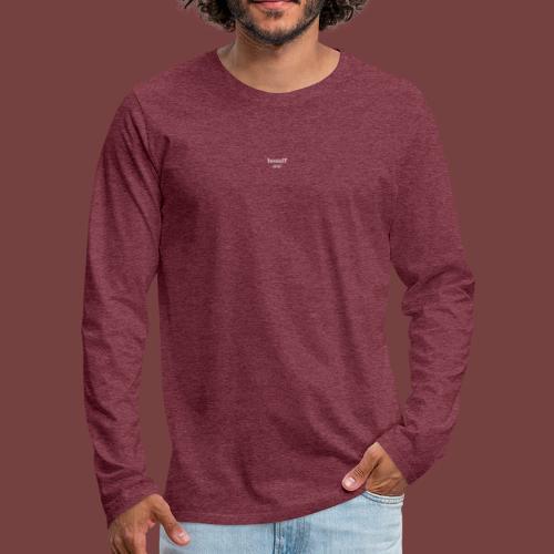 bouuff hvit tekst - Premium langermet T-skjorte for menn