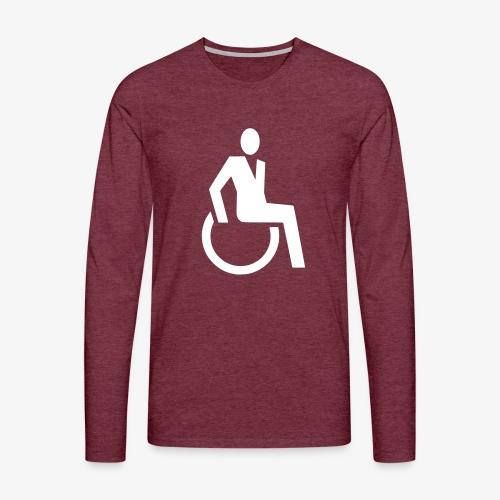 Sjieke rolstoel gebruiker symbool - Mannen Premium shirt met lange mouwen