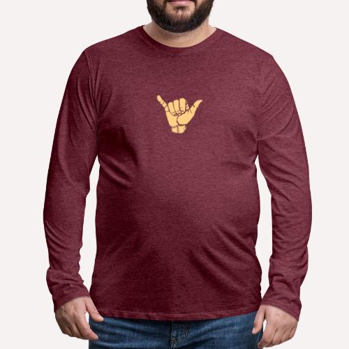Good Vibes Print Design Hand Sign On Demand - Men's Premium Longsleeve Shirt