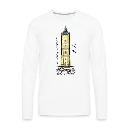 Finnish Lighthouse SÖDERSKÄR Textiles, and Gifts - Miesten premium pitkähihainen t-paita