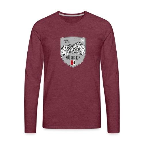 Eiger, Mönch und Jungfrau mit Mürren Flagge - Men's Premium Longsleeve Shirt