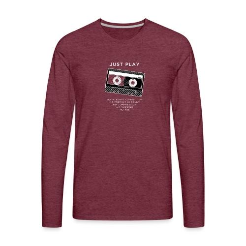 Just play a cassette - Men's Premium Longsleeve Shirt