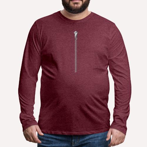 Zipper Funny Surprising T-shirt, Hoodie, Print - Men's Premium Longsleeve Shirt