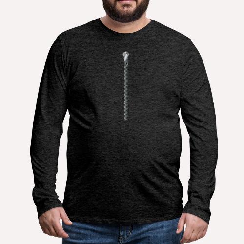 Zipper Funny Surprising T-shirt, Hoodie,Cap Print - Men's Premium Longsleeve Shirt