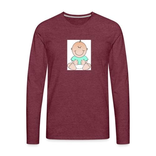rompertje baby jongen - Mannen Premium shirt met lange mouwen