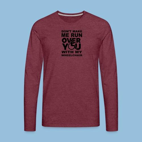 Runover1 - Mannen Premium shirt met lange mouwen