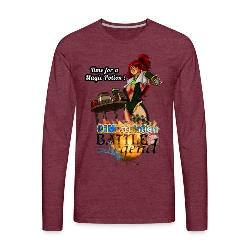 Mythrilisatrice- Battle for Legend X 01Musculation - T-shirt manches longues Premium Homme