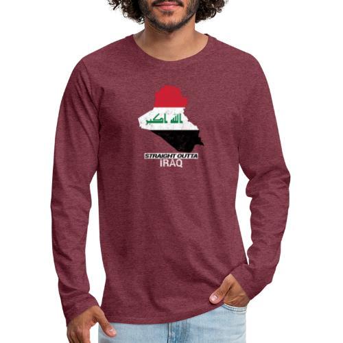 Straight Outta Iraq country map & flag - Men's Premium Longsleeve Shirt