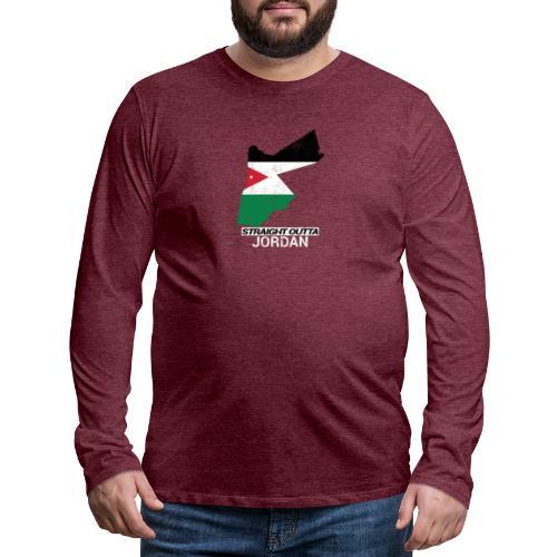 Straight Outta Jordan country map - Men's Premium Longsleeve Shirt