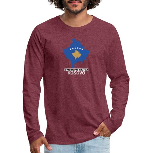 Straight Outta Kosovo country map - Men's Premium Longsleeve Shirt