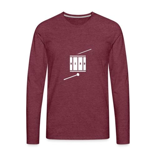 Nerd_Logo White - Herre premium T-shirt med lange ærmer