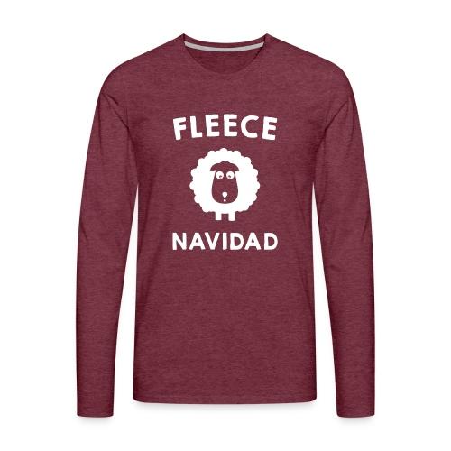 Foute Kersttrui Fleece Navidad 2016 - Mannen Premium shirt met lange mouwen
