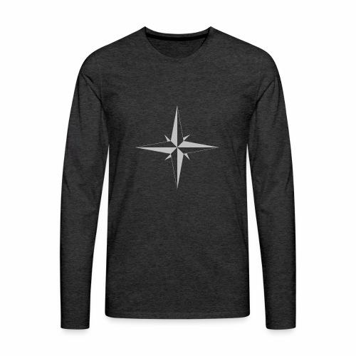 Compas Rose - Herre premium T-shirt med lange ærmer