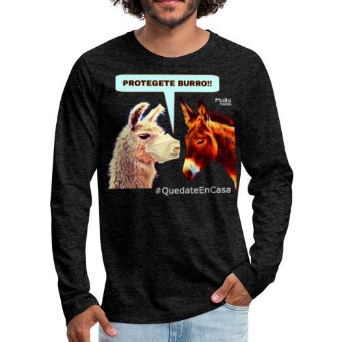 PROTEGETE BURRO - T-shirt manches longues Premium Homme