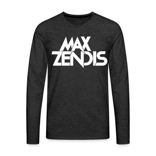 MAX ZENDIS Logo Big - Black/White - Männer Premium Langarmshirt