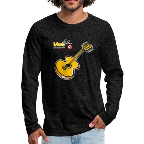 MusicForFun - dunkler Hintergrund - Männer Premium Langarmshirt