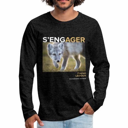 1 Achat = 1 Don à l'association ArcticArtsProject - T-shirt manches longues Premium Homme