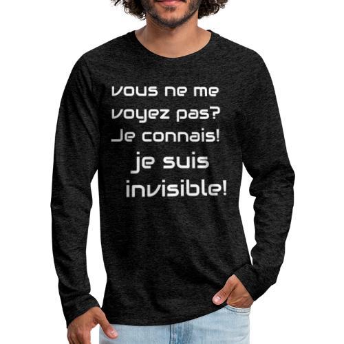 Invisibile #invisibile - Maglietta Premium a manica lunga da uomo