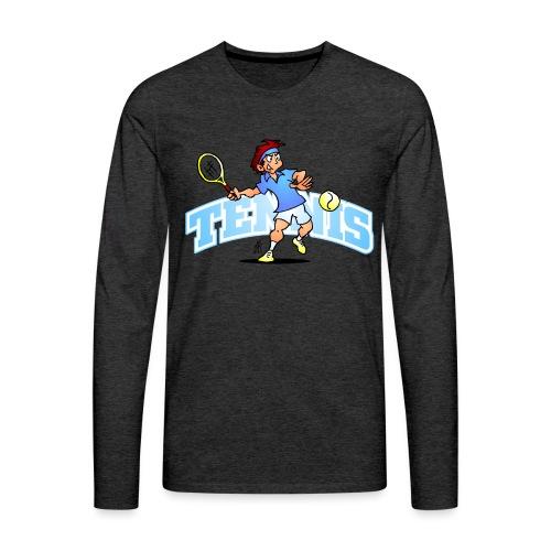 Tennis IV txt fc - Men's Premium Longsleeve Shirt